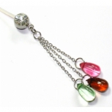 Coloured Beads Dangle Pregnancy Belly Bar