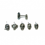 Surgical Steel skull Fake Plug