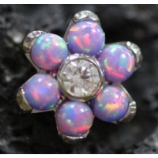 Anatometal Flower Attachment - Light Purple Opal