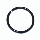 Black Surgical Steel Seamless Ring