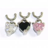 Heart Dangle Dangle For 1.6mm Dermal Anchor - Requires Concave Side Screw Top