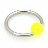 Glow In The Dark Ball Closure Ring - 1.2mm