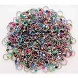 Acrylic Mix Ball Closure Ring - 1.2mm