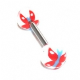 Colourful Butterfly Titanium Tongue Bar