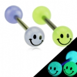 Smiley Face Glow In The Dark Tongue Bar