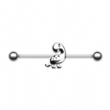 Cute Dinosaur Scaffold Industrial Barbell