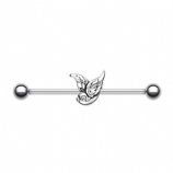 Cute Little Swallow Scaffold Industrial Barbell