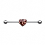 Leopard Print Heart Scaffold Industrial Barbell