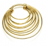 Brass Ear Weight - Stacked Hoop Ring - 3mm