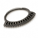 Block Fan Black Steel Hinged Segment Ring
