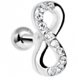 Crystal Infinity Sign Tragus / Helix Bar