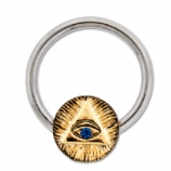 Illuminate Eye Closure Nipple Ring