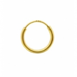 Gold Plated Sterling Silver Hinged Nose Ring Hoop