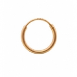 Rose Gold Plated Sterling Silver Hinged Nose Ring Hoop