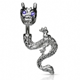 Double Ended Dragon Belly Piercing Bar