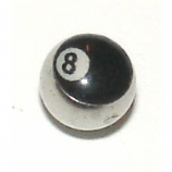 Eight Ball Logo Ball For 1.6mm Body Bars