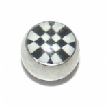 Chequered Logo Ball For 1.6mm Body Bars