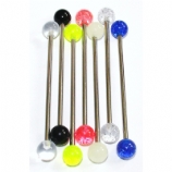 Colourful UV Balls Scaffold / Industrial Barbell