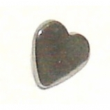 Heart Shaped Screw On Attachment For 1.6mm Dermal Anchor