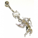 Cupid / Cherub Dangle Belly Piercing Bar