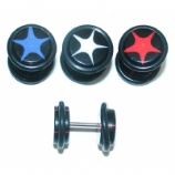 Star Logo Black Fake Plug