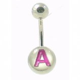 Initial Letter Logo Belly Piercing Bar