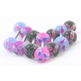 Swimming Sperm Colourful UV Titanium Tongue Bar