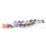 Fish Eye Eyeball Colourful UV Titanium Tongue Bar