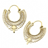 Seraphin Casted Brass Ear Rings - Pair
