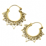 Calipso Casted Brass Ear Rings - Pair