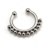 Small Beaded Fake Septum Clicker Clip