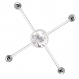 Four Way Belly Piercing Bar For Multiple Navel Piercings