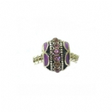 Purple Crystal and Enamel - Single Bead