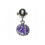Purple 21 Birthday - Single Bead