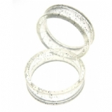 Giant Gauge Glitter Flared Acrylic Flesh Tunnel 26mm - 50mm