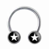 Stars Forward Facing Logo Horseshoe Nipple Ring