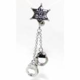 Sheriff's Star Badge & Handcuffs Top Drop Belly Piercing Bar