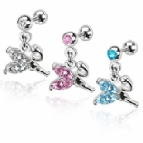 Fairy Crystal Dangle Tragus / Helix Bar