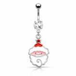 Jolly Santa Christmas Dangle Belly Bar