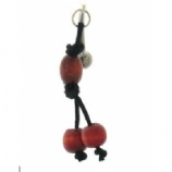 Wooden Beads & Leather Organics Reverse Dangle Belly Bar