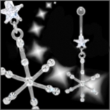 New Style Snowflake Christmas Dangle Belly Piercing Bar