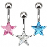 Small Crystal Star Belly Bar