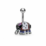 Enamel Pattern Elephant Belly Bar