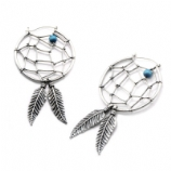 Dreamcatcher Plug Hoop Ear Rings - Pair