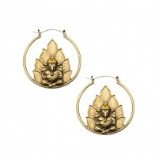 Ganesh Plug Hoop Ear Rings - Pair