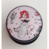 Pin Up Mermaid Plug 6mm - 25mm