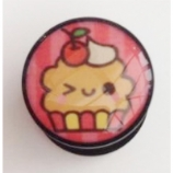 Kawaii Cupcake Plug 6mm - 25mm