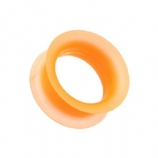 Orange Silicone Flexible Flesh Tunnel