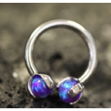 IN STOCK - Sleepy Lavender - IS Titanium Circular Barbell With Faux Pal Ends