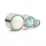 Opal 3 Arc Labret - Pink, White and Blue Opal